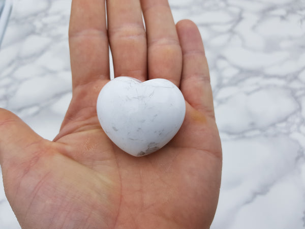 Howlite Heart - Earth's Treasures