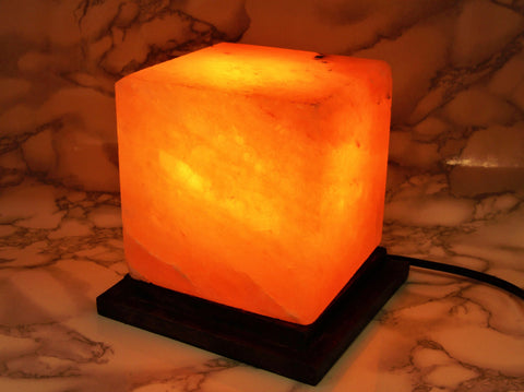 Himalayan Salt Lamp Square / Cube - Earth's Treasures
