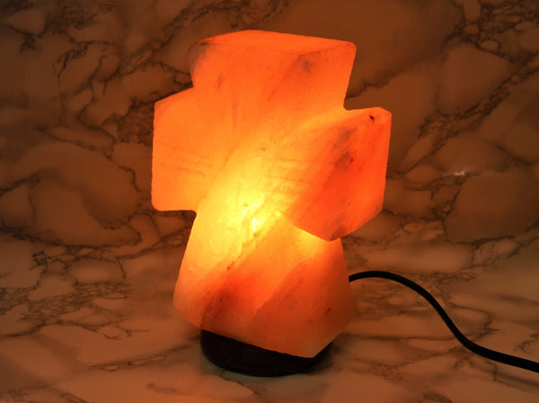 Himalayan Salt Lamp Cross - Earth's Treasures