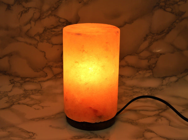 Himalayan Salt Lamp Cylinder - Earth's Treasures