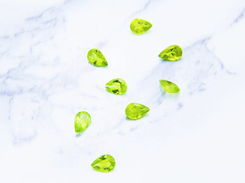 Peridot Pear Cut Gemstone