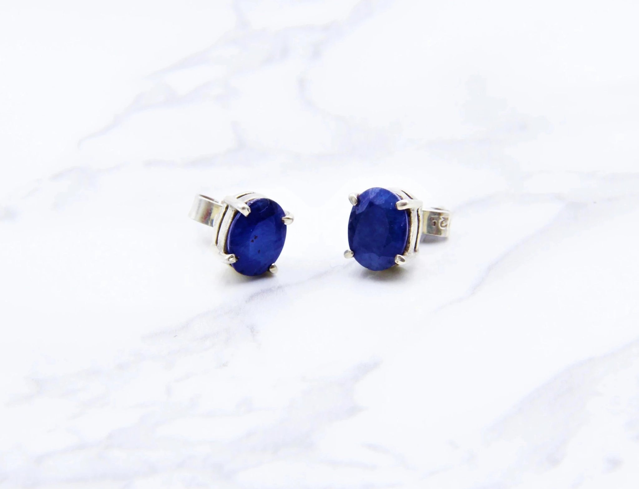 Sapphire Gem Earrings - Earth's Treasures