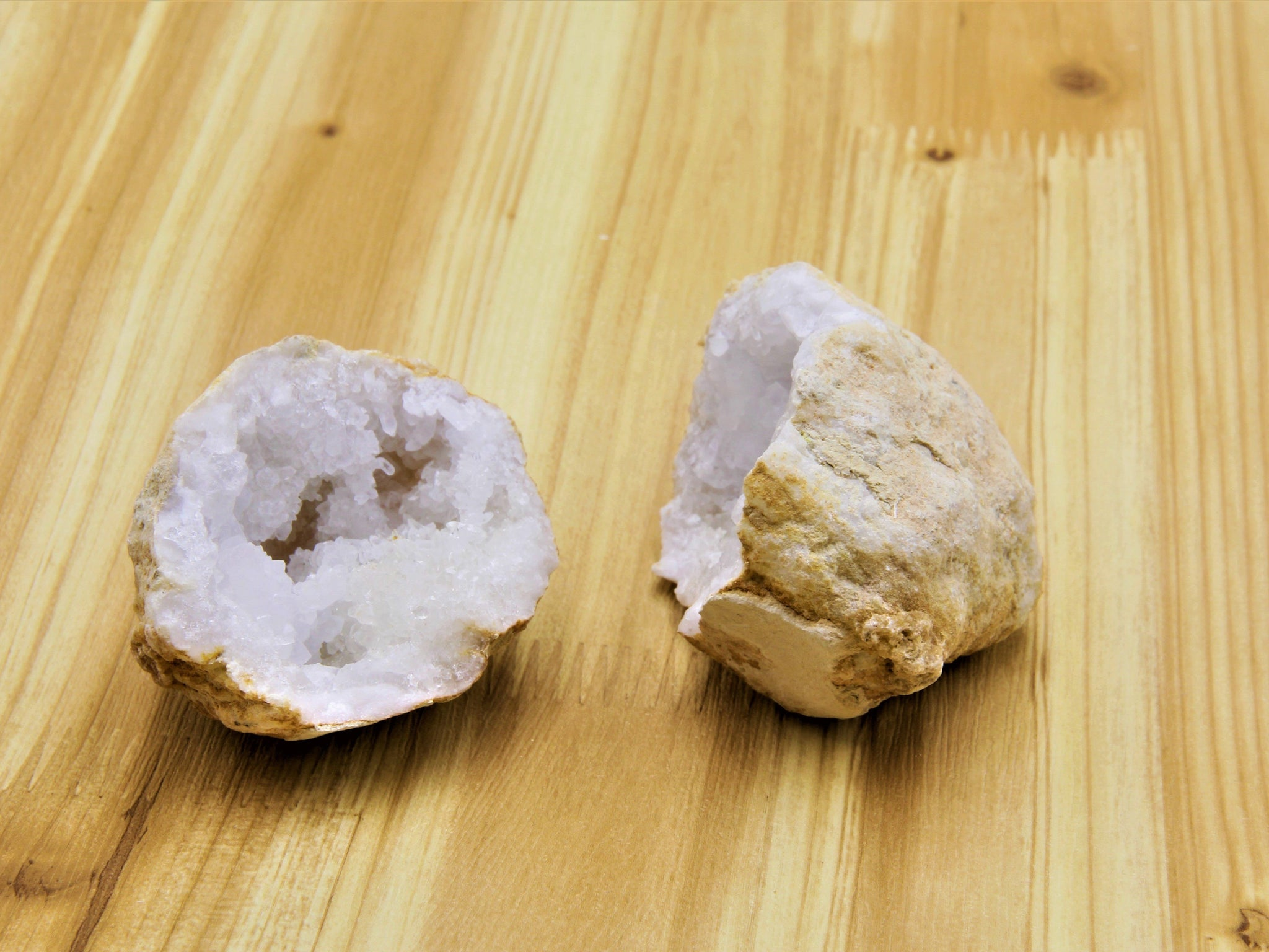 Quartz Geode Pair - Earth's Treasures