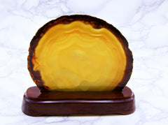 Agate Slice on Stand