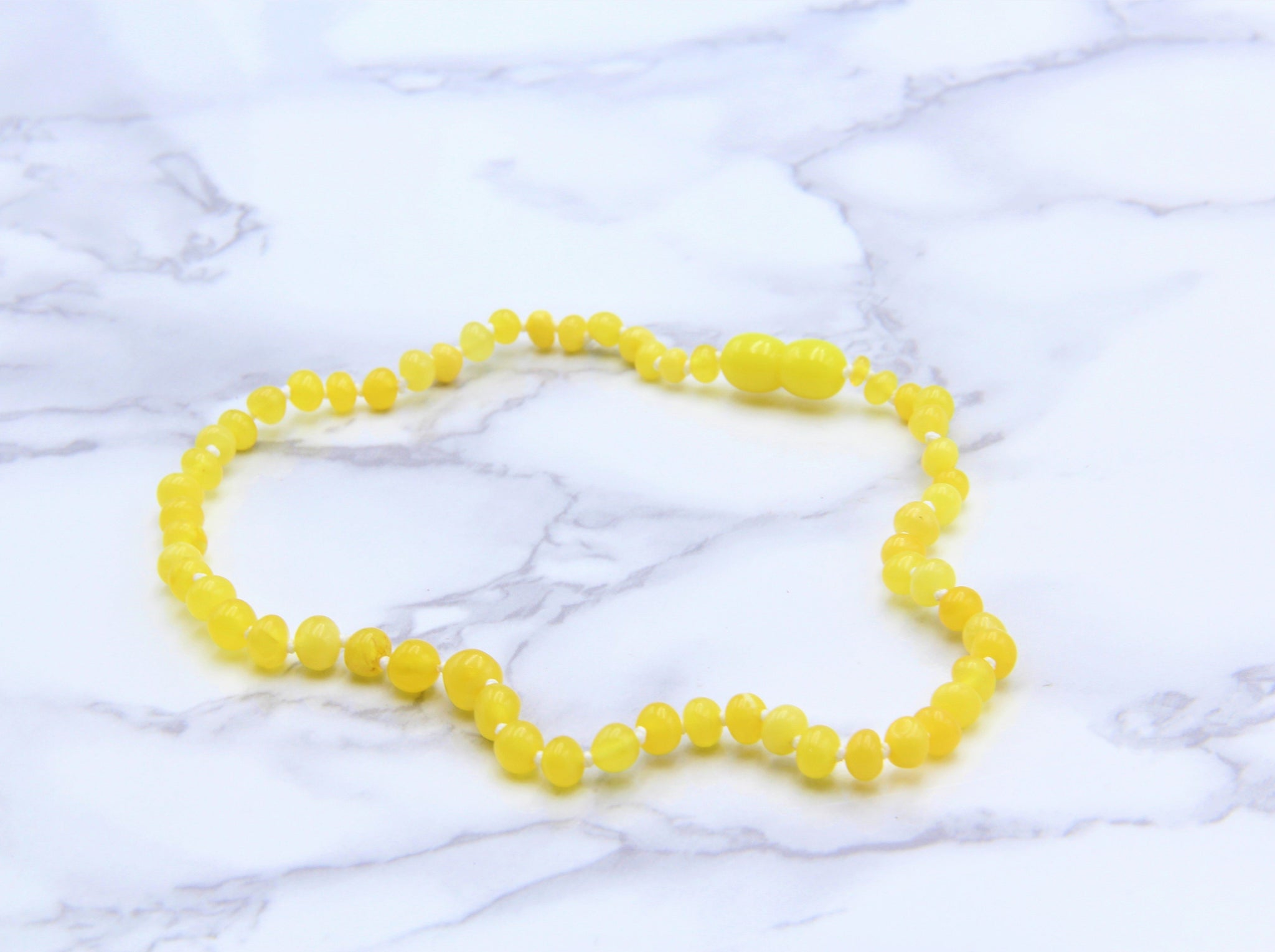 Amber Teething Necklace Yellow - Earth's Treasures