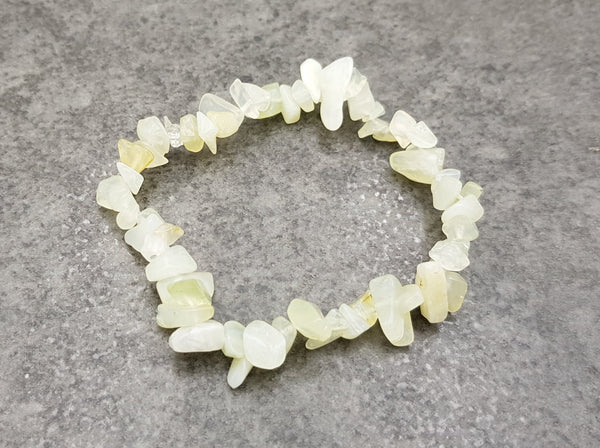 Jadeite Chip Bracelet - Earth's Treasures
