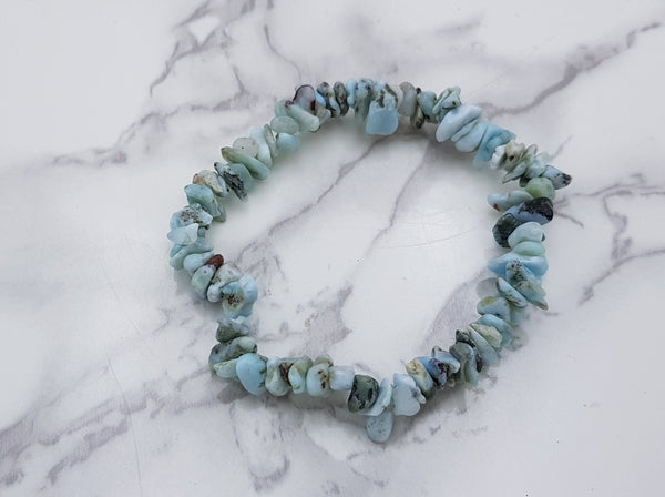 Larimar Chip Bracelet - Earth's Treasures
