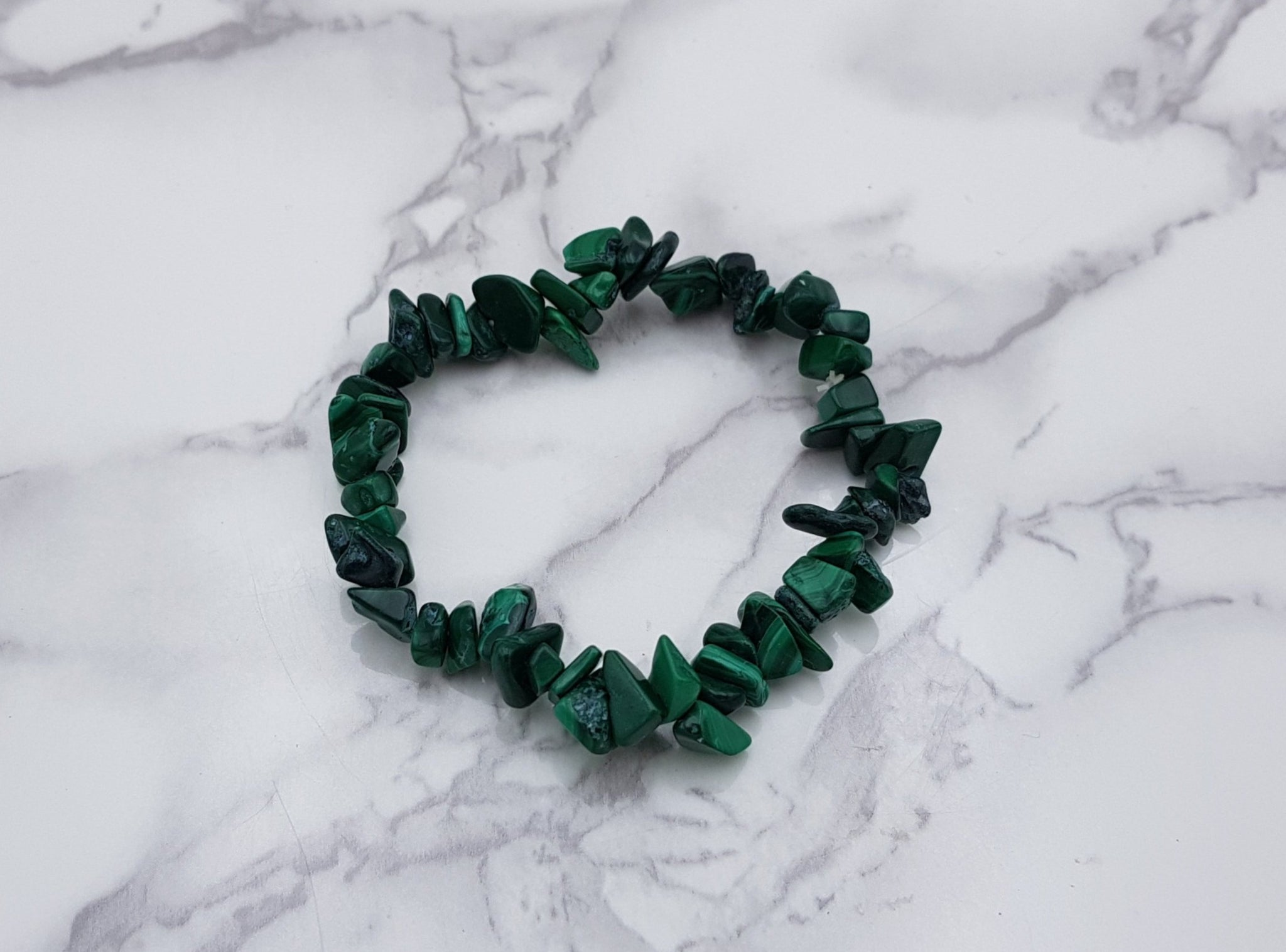 Malachite Chip Braclet - Earth's Treasures
