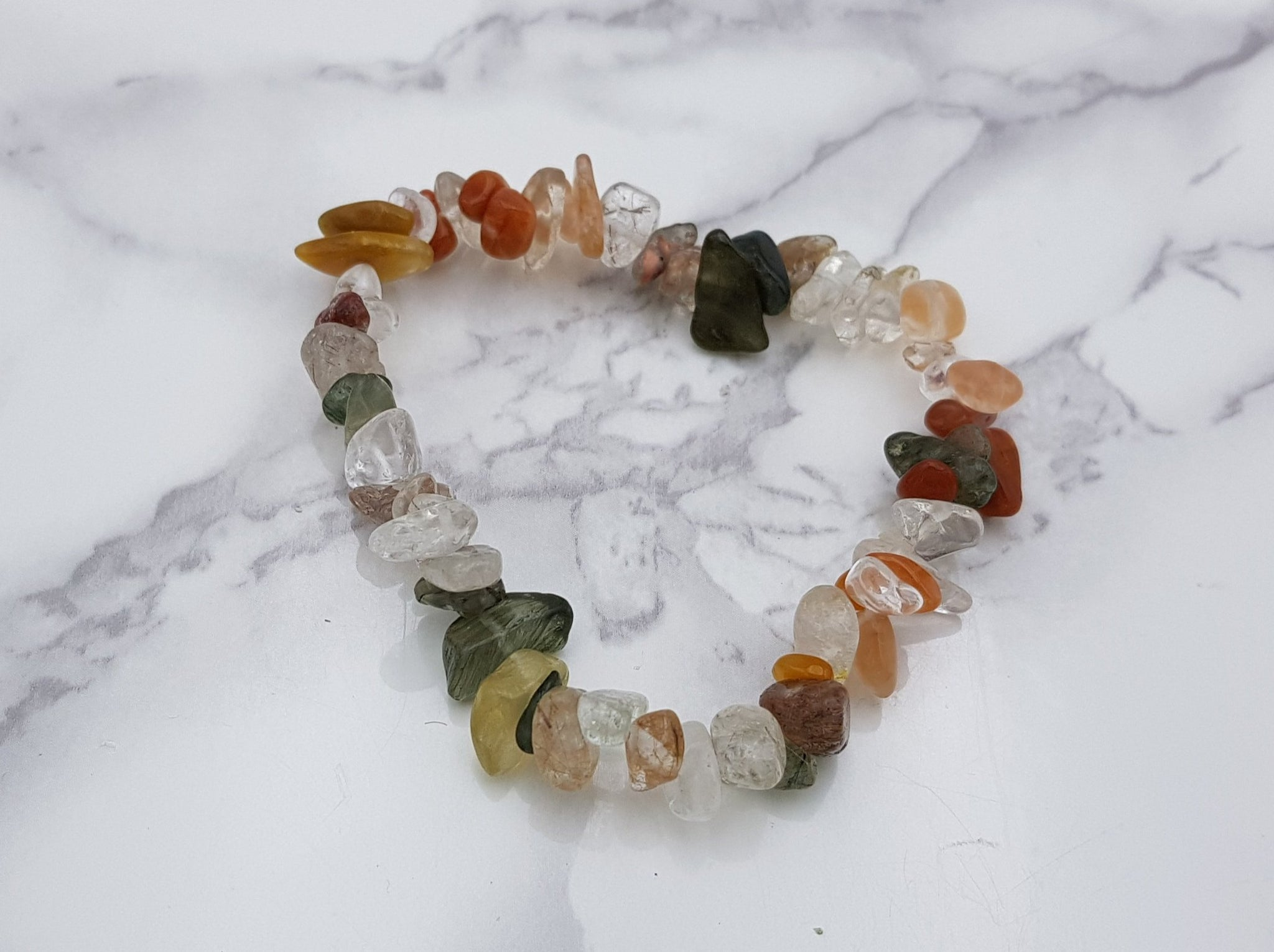 Mixed Rutile Quartz Chip Bracelet - Earth's Treasures