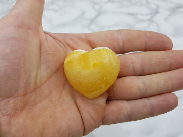 Orange Calcite Heart - Earth's Treasures