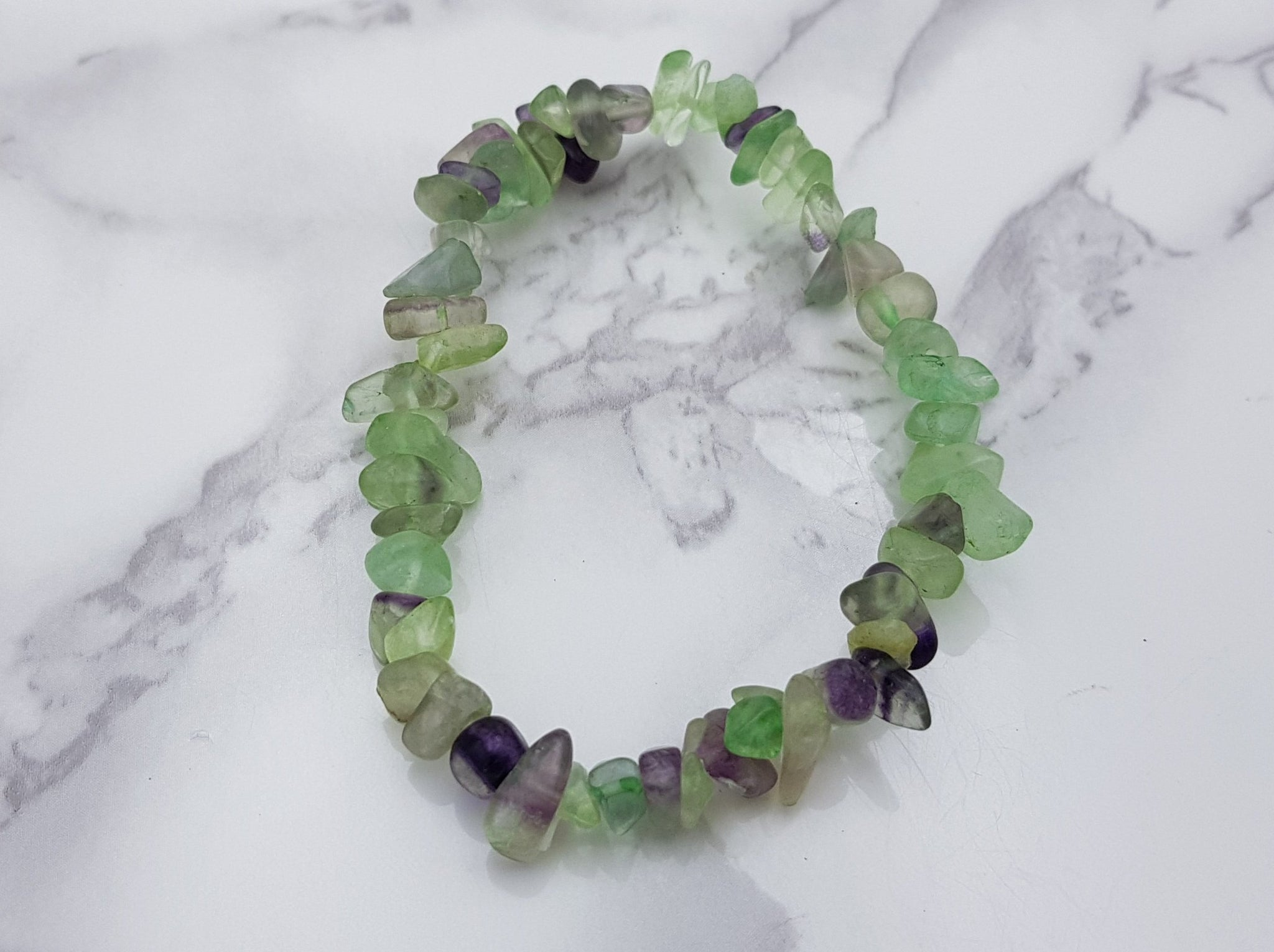 Rainbow Fluorite Chip Bracelet - Earth's Treasures