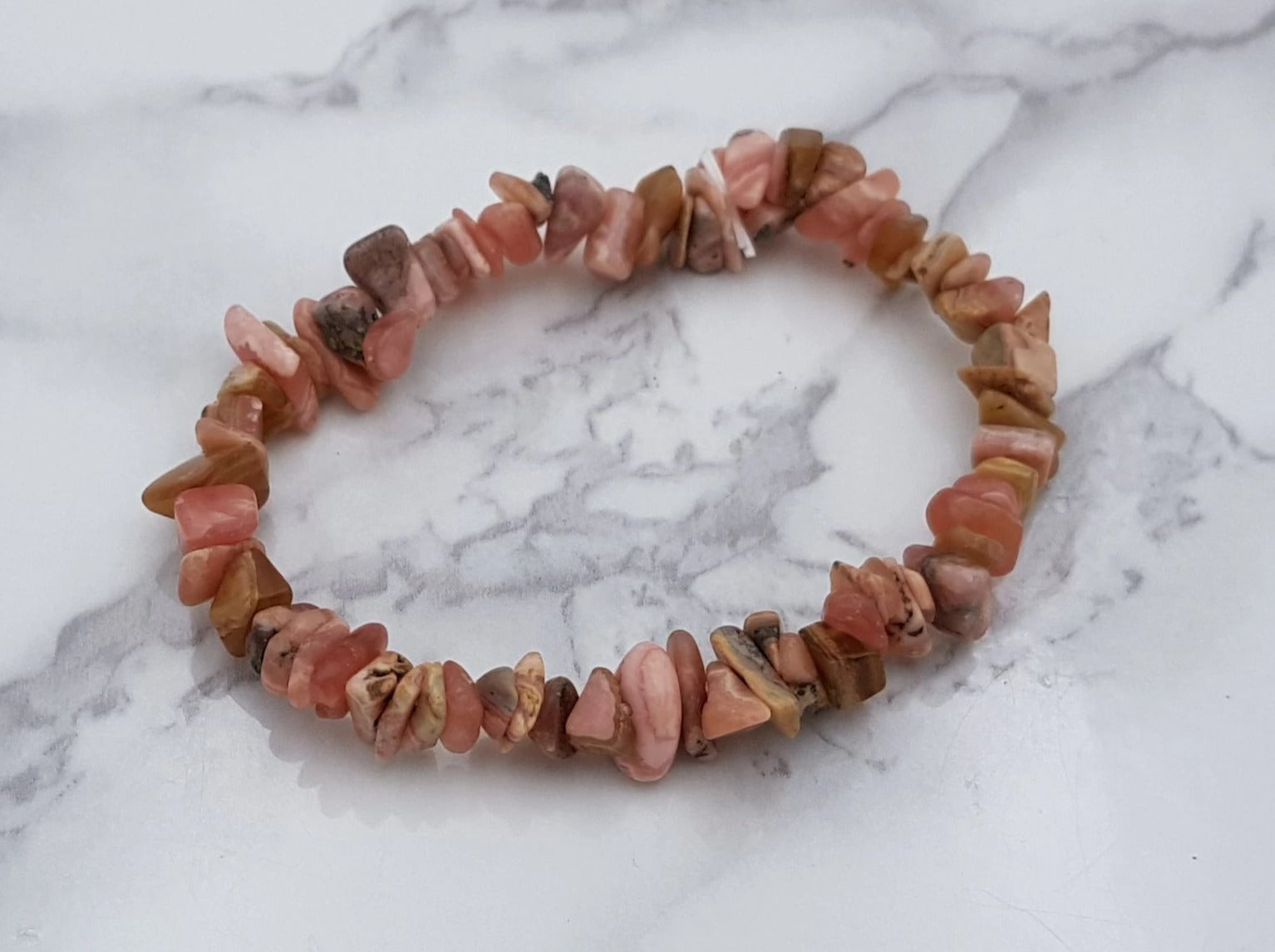 Rhodochrosite Chip Bracelet - Earth's Treasures