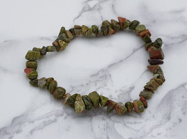 Unakite Chip Bracelet - Earth's Treasures