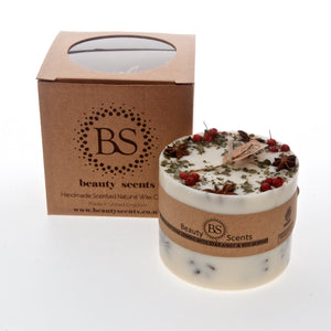 Large Handmade Scented Candles With Star Anise & Red Berries