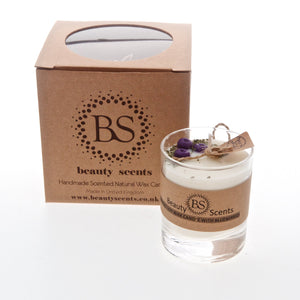 Small Scented Soy Candle With Blueberries In Glass Container