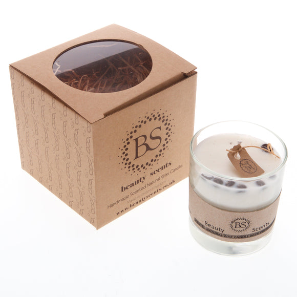 Large Scented Soy Wax Candle With Coffee Beans In Glass Container
