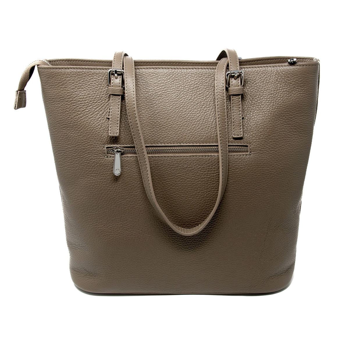 Large Top Zip Tote Bag
