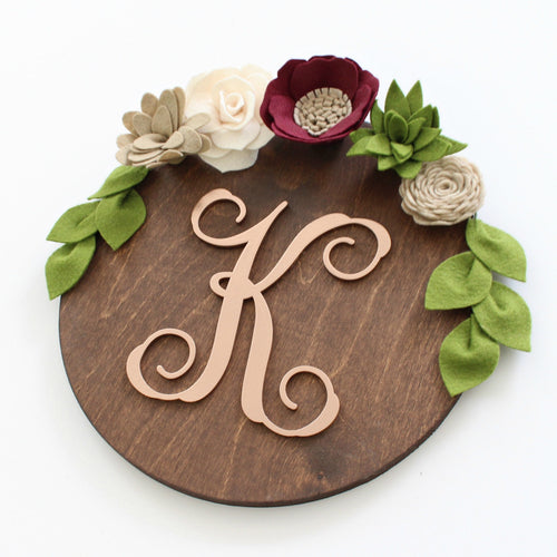 Personalized Flower + Succulent Plaque | Falling In Love
