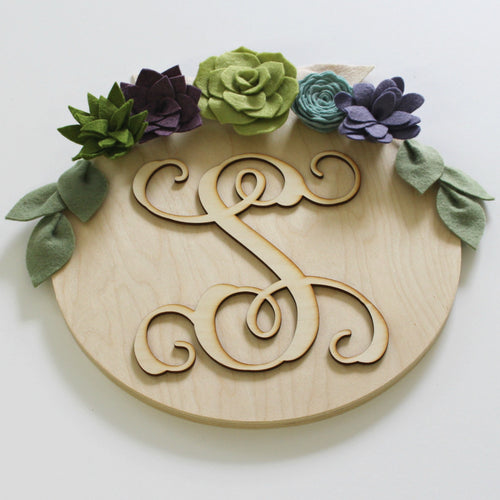 Personalized Flower + Succulent Plaque | Greenie