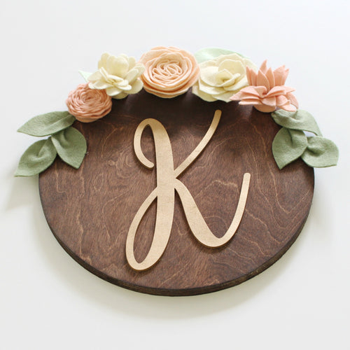 Personalized Flower + Succulent Plaque | Blushing Bride