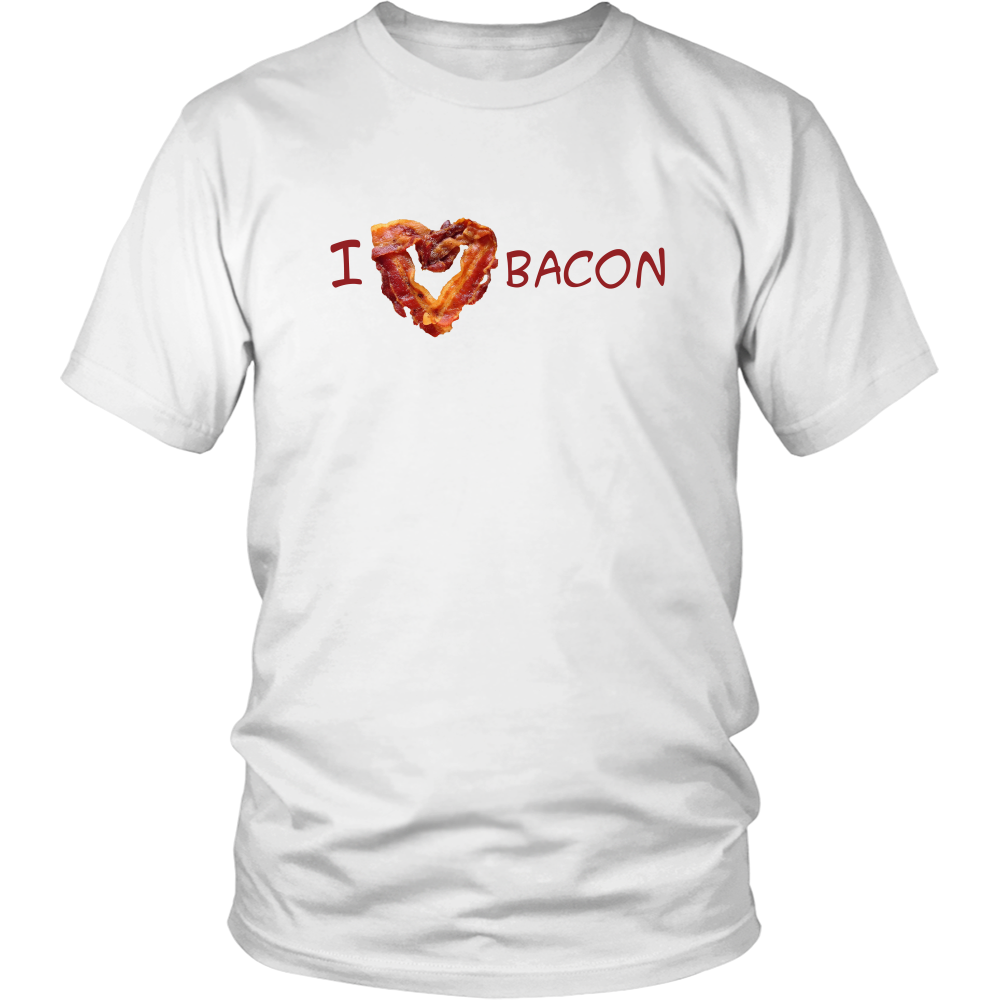 I Love Bacon - Bacon Heart T-Shirt