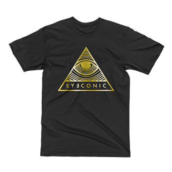 Eyeconic t-shirt with gold Pyramid print