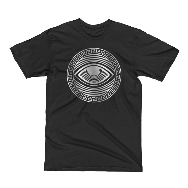 Eyeconic t-shirt with silver Eyedusa print