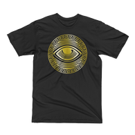 Eyeconic t-shirt with gold Eyedusa print