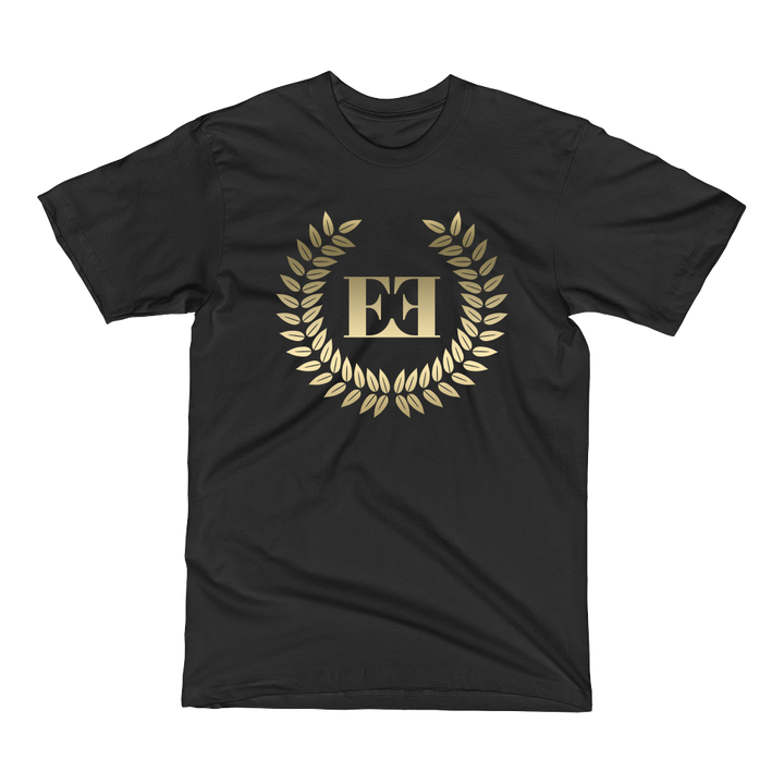 Eyeconic t-shirt with gold crest print