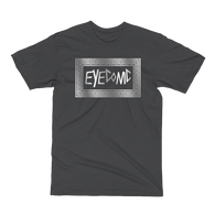 Dark Grey t-shirt with silver Eyeconic pattern print
