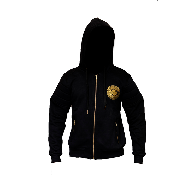 Eyeconic hoodie with gold Eyedusa print