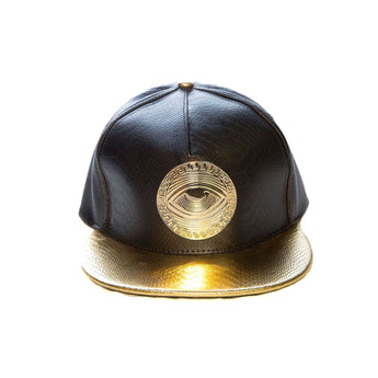 Eyeconic croc hat with gold Eyedusa emblem