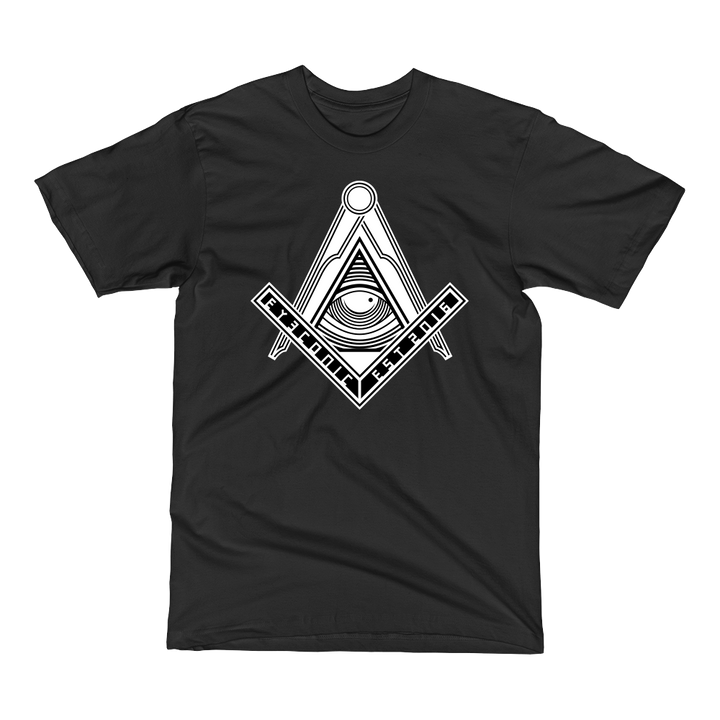 Black t-shirt with Eyeconic Masonic print (Members only - ID Required)