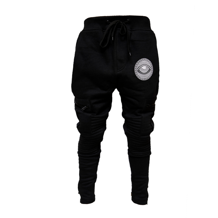 Eyeconic joggers with silver Eyedusa print