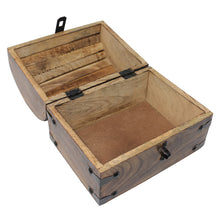 Pirate Treasure Chest with Lock and Skeleton Key - Small