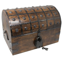 Pirate Treasure Chest with Lock and Skeleton Key - X-Large