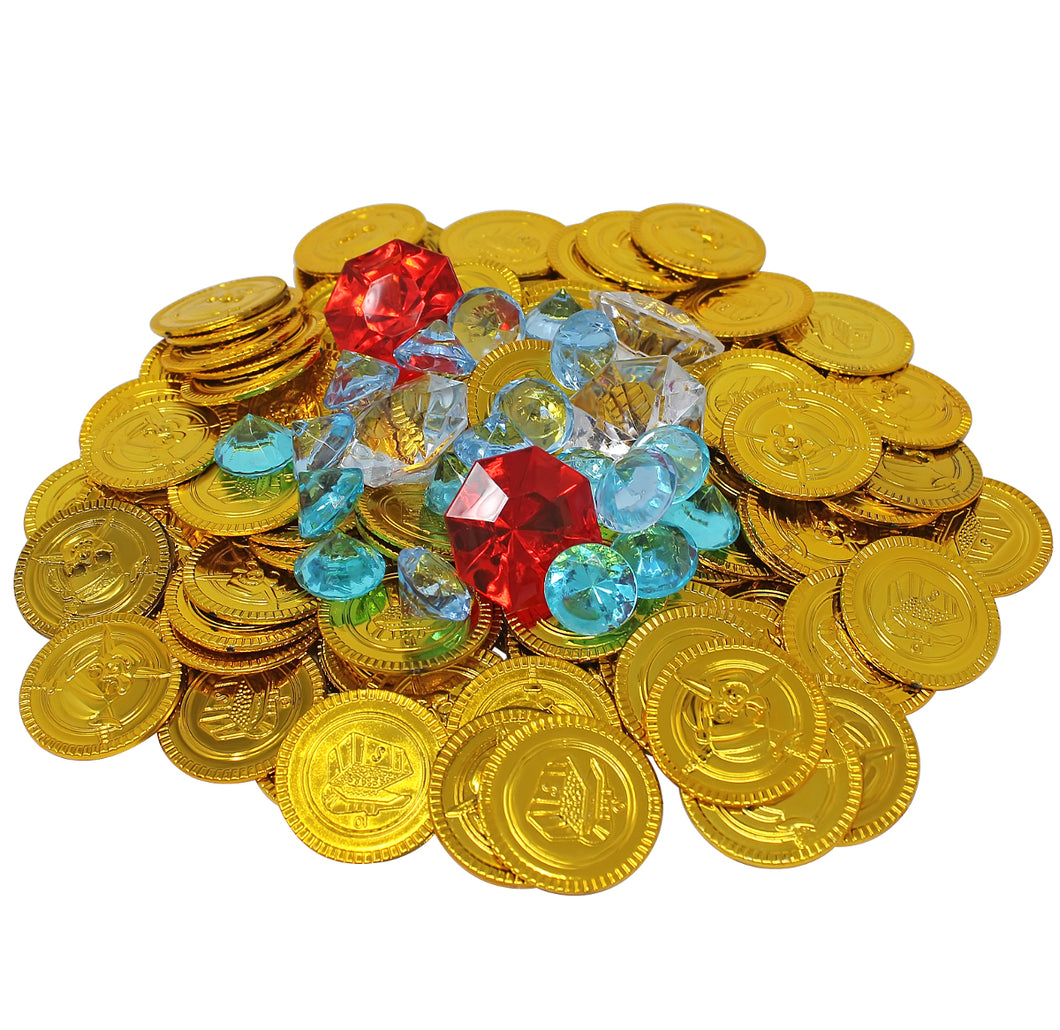 Gold Coins and Diamond Pirate Treasure Pack