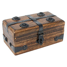 Keepsake Treasure Chest Box with Flat Lid - Small
