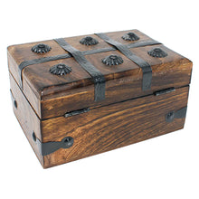 Keepsake Treasure Chest Box with Flat Lid - Medium