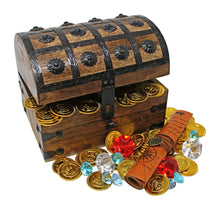 Pirate Treasure Chest with Gold Coins/Gems and Pirate Map