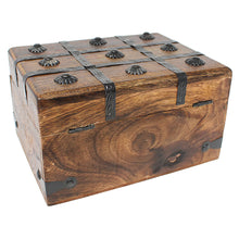 Keepsake Treasure Chest Box with Flat Lid - Large