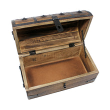 Pirate Treasure Chest with Lock and Skeleton Key - Medium