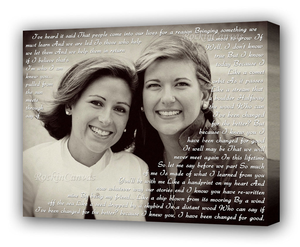 Gift For Bestfriend Photo Art Sisters By Heart Wedding Gift For