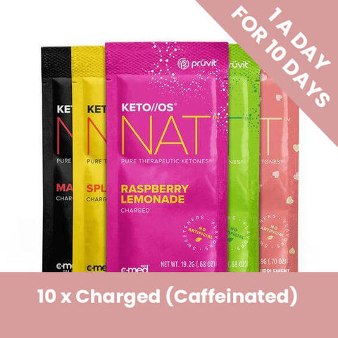 Ketones 1 a Day 10 x Charged Pack (Caffeinated)