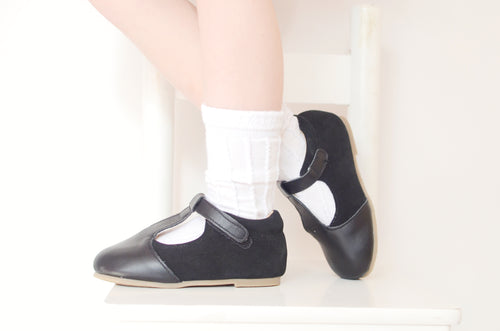 'Emma' Black Tbar Shoes