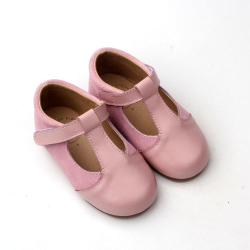 'Aylah' Pink Tbar Shoes