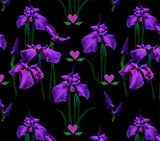 Leggings - Purple Iris Flowers