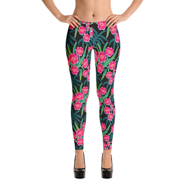 Leggings - Pink Orchids