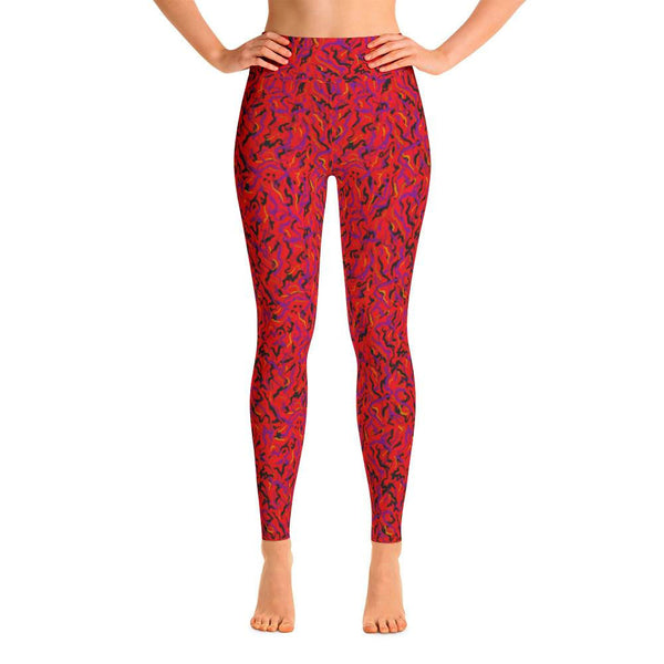 Yoga Pants - Wild Thing, Red