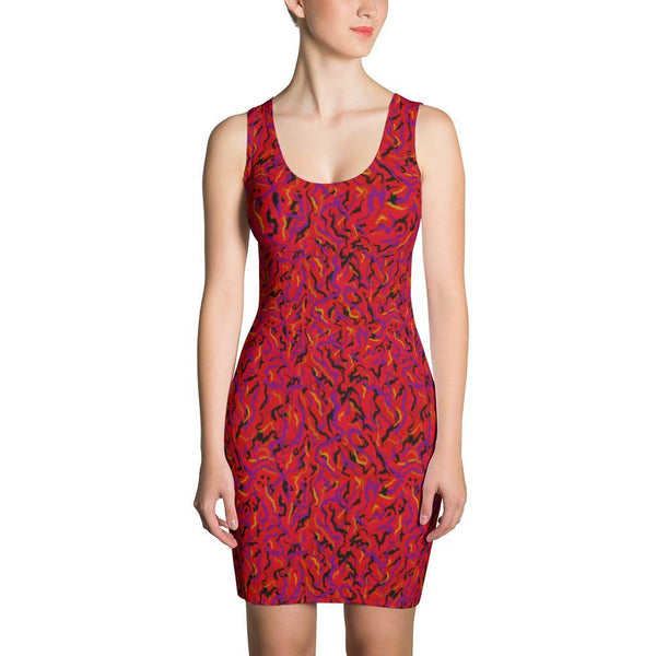 Bodycon Dress - Wild Thing, Red